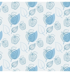 Seamless pattern with appleApplewhiteleaf vector image