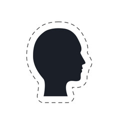 silhouette head male communication vector image