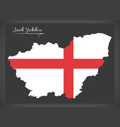 South yorkshire map england uk with english vector