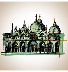 Venice church vector image vector image