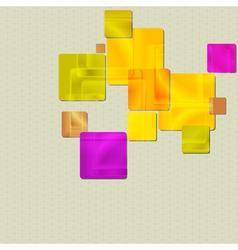 Vibrant squares design vector image vector image