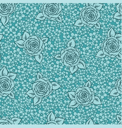 vintage seamless pattern with garden roses on vector image vector image