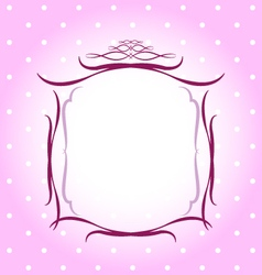 Wedding pink floral frame vector image
