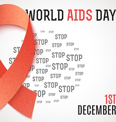 World aids day stop aids 1th december brochure vector