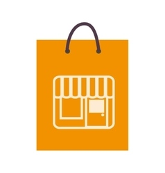 Bag shop purchase icon vector