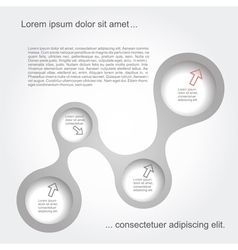 Abstract black-white web design vector image