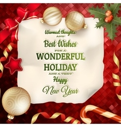 Holidays greeting and christmas card eps 10 vector