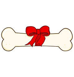 Dog Bone Gift vector image