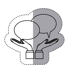 sticker contour with callout for dialogue vector image