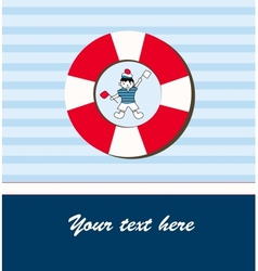 Young sailor card vector
