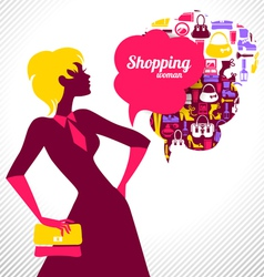 Shopping woman vector
