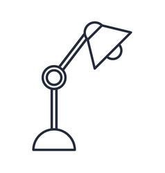 Desk lamp bulb light office object design vector