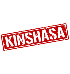 Kinshasa red square stamp vector