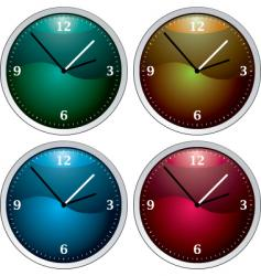 clock variation vector image