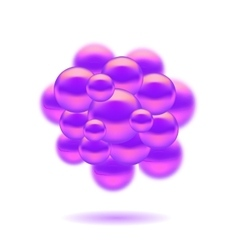 Molecules spheres vector
