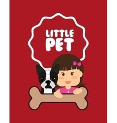 Pets love design vector