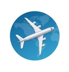Airplane travel concept vector