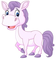 Cartoon cute beautiful baby pony isolated vector