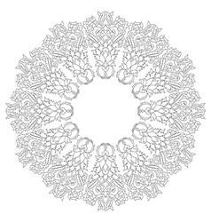 Antique ottoman turkish pattern design twenty vector image