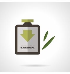 Herbal shampoo flat color design icon vector