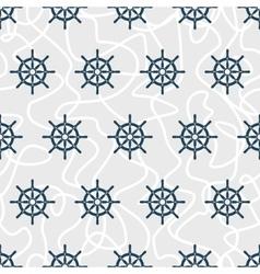 Ship helm seamless pattern vector