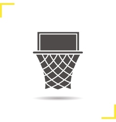 Basketball hoop icon vector