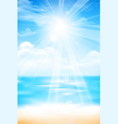 Abstract blur sand beach and blue sky background vector