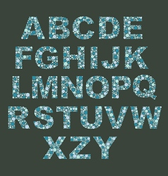 Alphabet with dots vector