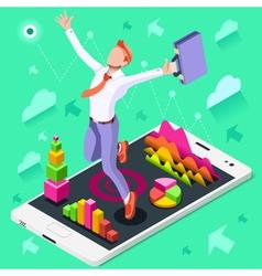 Ambitious business change 66 Job Ambitions concept vector image