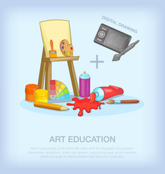 Art education tools concept cartoon style vector