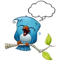 Blue bird lol vector