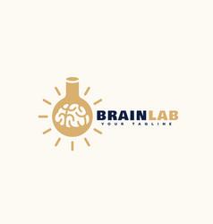 brain lab logo vector image