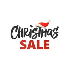 christmas advertising design christmas sale vector image vector image