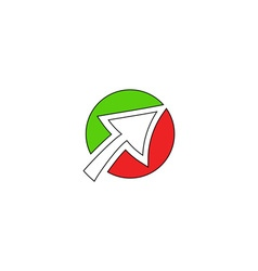 Click icon logo vector image vector image