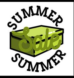 color vintage summer sale emblem vector image