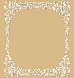 Delicate white frame vector