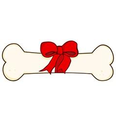 Dog Bone Gift vector image vector image