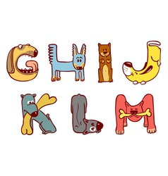 dogs alphabet vector image vector image