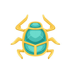 egyptian scarab beetle sacred bug a symbol of the vector image
