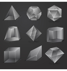 glass geometrical cubes vector image