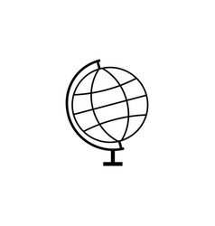 globe line icon school and education element vector image