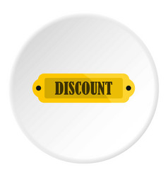 Golden discount label icon circle vector