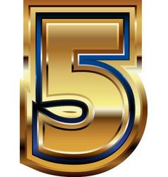 Golden number 5 vector