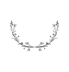 gray scale decorative half crown with olive fruits vector image vector image