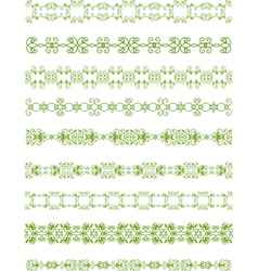 green floral border vector image vector image