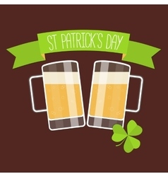 Happy St Patricks day card vector image