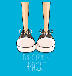 hipster sneakers with motivation quote vector image vector image