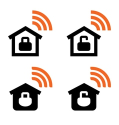 Home wi-fi signs vector