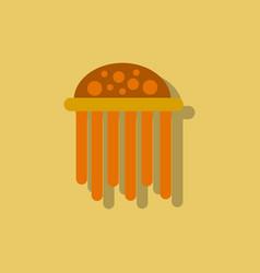 Jellyfish sticker vector
