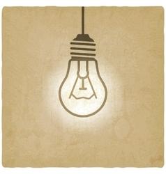 light bulb concept vintage background vector image vector image